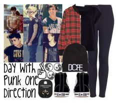 """""""Day With Punk One Direction"""" by albamonkey ❤ liked on Polyvore featuring moda, Topshop, River Island, R13, Dope e Converse"""