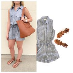 SEE IT ON | Having a lazy afternoon BBQ? Hang out over the weekend in the 'Gia' jean blend romper. It has the BEST LENGTH. $52. Comment for PayPal OR text 225.385.6004 to purchase. WE SHIP! #dressmingle #ootd #lotd #romper #wiw #style