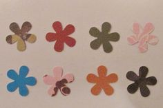 Die Cut Flower Embellishments by ButterflyScrapbooks on Etsy, $4.50
