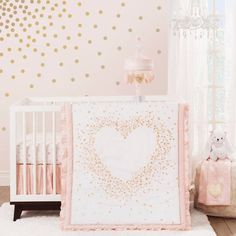 Pink Grey And Gold Glamorous Girl S Nursery