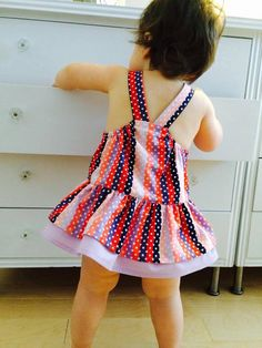 Baby girl romper purple and peach polkadots Baby Girl Romper, Baby Girls, Girls Rompers, Voici, Polka Dots, Summer Dresses, Purple, Fashion, Diaper Change