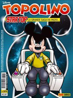 Topolino, giunto alla sua uscita settimanale numero 3079, continua a stupire i lettori con parodie di racconti e saghe famose - http://c4comic.it/2014/11/21/topolino-strizza-locchio-a-star-trek-arriva-star-top/