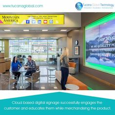 #Cloud based #digitalsignage successfully #engages the #customer and #educates them while merchandising the product. #TucanaGlobalTechnology #Manufacturer #HongKong
