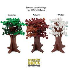 LEGO Large Tree - Bushy Autumn Tree - Dark orange/Red leaves - 12cm tall - NEW | eBay
