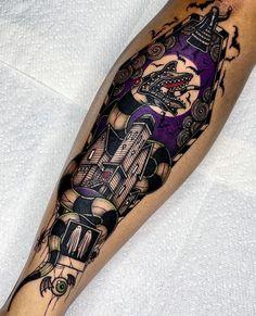 Baby Tattoos, Dope Tattoos, Badass Tattoos, Unique Tattoos, Leg Tattoos, Beautiful Tattoos, Body Art Tattoos, Tatoos, Tim Burton