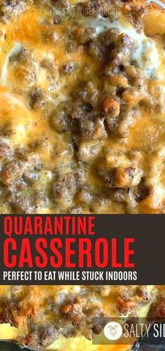 food dinners Quarantine Casserole - this perfect breakfast casserole can be made ahead the night before and is a perfect stuck in the house breakfast - incredibly delicious and filling, s Breakfast For Dinner, Perfect Breakfast, Breakfast Dishes, Healthy Breakfast Recipes, Brunch Recipes, Homemade Breakfast, Crockpot Breakfast Ideas, Breakfast Quiche, Breakfast Potatoes