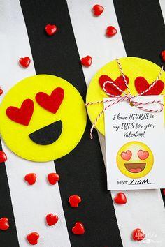DIY Felt Emoji Coaster & Printable Valentines | Michelles Party Plan It