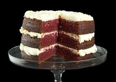 Red Velvet Cake with Raspberry Filling and Cream Cheese Frosting
