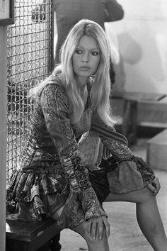 "welovebrigittebardot: ""Brigitte Bardot photographed by Terry O'Neill on the set of Les Novices, "" Brigitte Bardot, Bridget Bardot, Marlene Dietrich, Terry O Neill, Greta, Glamour, Most Beautiful Faces, French Actress, Sophia Loren"