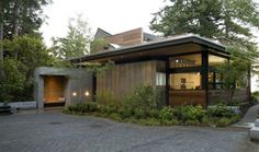Ellis Residence in Bainbridge Island, Washington designed by Coates Design is a LEED Platinum home that shines as an example of modern design made green.