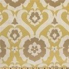 cute yellow w/ brown fabric (pillows for screen porch or living room)