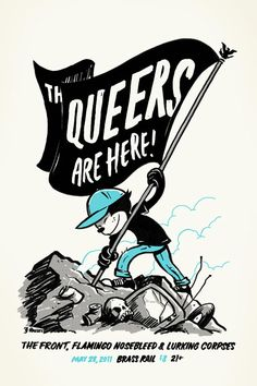 GigPosters.com - Queers, The - Front, The - Flamingo Nosebleed - Lurking Corpses, The