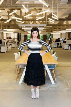 Sophia Amoruso - Nasty Gal, Girl Boss Interview - Sophia Amoruso Might Be The Scrappiest Superwoman We Know - Estilo Gamine, Sophia Amoruso, Gamine Style, Poses, Elegant Outfit, Nasty Gal, Girl Boss, Business Women, Fashion Brands