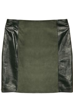 Leather and suede mini skirt by DAY Birger et Mikkelsen