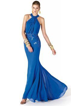 Vestido de fiesta color azulino (2)