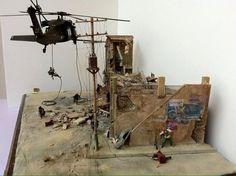 """Diorama """"Black Hawk UH-60 L, Iraq 2005, IED's"""" by Mauricio Tato Mena"""