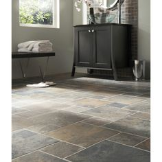 Faux Wood Ceramic Tile In The Bathroom Easy To Clean And
