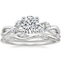The White Gold Willow Diamond Ring ct.) pairs beautifully with the Luxe Winding Willow Diamond Ring ct.) to create a sought after matched set. Big Engagement Rings, Big Wedding Rings, Wedding Ring Designs, Designer Engagement Rings, Engagement Ring Settings, Diamond Wedding Rings, Wedding Ideas, Dream Wedding, Solitaire Engagement