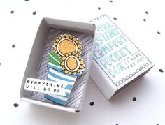 The Instant Comfort Pocket Box  - Sunny Sunflowers - everything will be ok