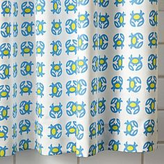 Crab Shower Curtain – Lime