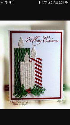 23 creative ways to make Christmas cards - Karten basteln - Weihnachten Christmas Cards To Make, Christmas Humor, Christmas Decorations, Christmas Candles, Merry Christmas, Beautiful Christmas Cards, Cute Diy Xmas Cards, Handmade Decorations, Christmas Cards For Children