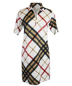 San Soleil Turnberry Tan Dress with UPF 50 sun protection fabric @golf4her.com