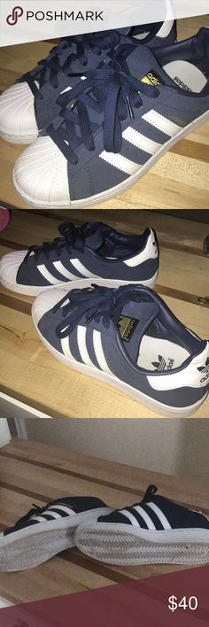 Almost new! Adidas Super Star sneakers Adidas Super Star sneakers only worn a few times.  They're a little snug for me, they're a kids size 4 but they fit a women's size 6. adidas Shoes Sneakers