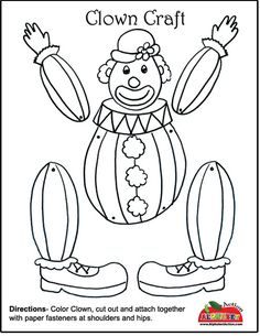 Clown Craft - Would be super cute with a picture of the kids' head over the clown head.