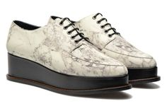 Marble Leather Eleanora Platform Lace-up shoes by Opening Ceremony | Sarenza UK…