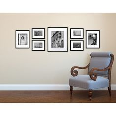 Features:  -Set includes 7-pieces black frame.  -Includes two sets of usable art and three flexible hanging template options.  -Black wood frame.  -Matting Included: Yes.  Style: -Modern.  Color: -Bla