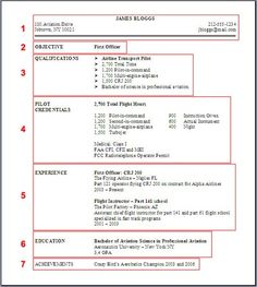 pilot sample resume an example resume