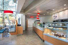 Interior design of Cafe Ami UBC at the Centre for Brain Health by Vancouver based interior design firm SSDG Interiors Inc.