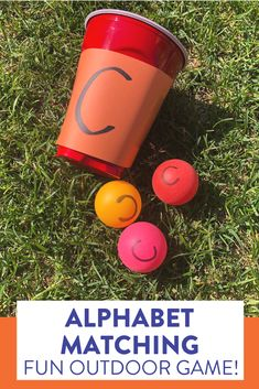 Kindergarten students will love this alphabet matching game! head over to the blog post to see how to play.