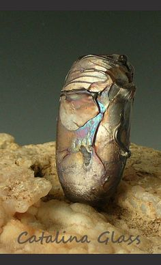 Silver Plum Shard Focal by Catalina by catalinaglass