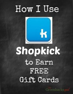 Try Shopkick for Free Gift Cards