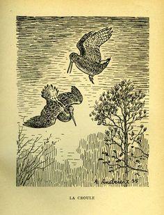 Andrieux / Salvat. En forêt. Chroniques de chasse d'un forestier. 1936