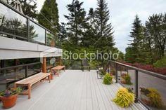 Modern Back Deck Royalty Free Stock Photo