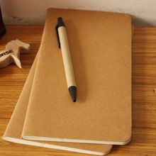 1pcs cowhide paper notebook blank notepad book vintage soft copybook daily memos Kraft cover journal notebooks free shipping1426(China (Mainland))