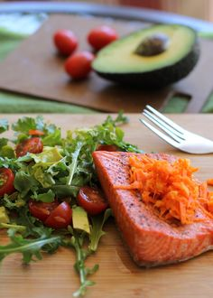 Crispy Salmon with Carrot-Ginger Relish