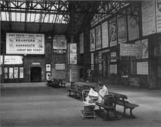 Ah, those were the days, a return journey to Harrogate for under 50 new pence! Leeds Castle, Leeds City, Disused Stations, Industrial Architecture, Central Station, West Yorkshire, Far Away, Old Pictures, England