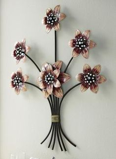 Metal Flowers Wall Decor new contemporary metal wall art decor or sculpture - butterfly