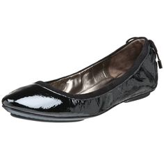 Maria Sharapova Collection by Cole Haan Women's Air Bacara Flat,Black Patent,5 M. Padded sock lining. Rubber pod outsole. Concealed Nike Air technology. An elasticized topline and corset-laced back combine feminine features with understated attitude.