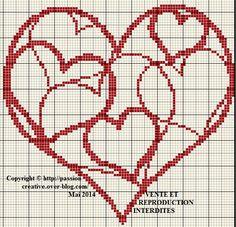 Points de croix *@* Coeurs
