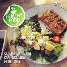 #salmón #ensalada #healthy #quinoa