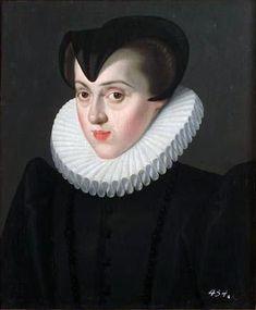 Portrait d'Elisabeth d'Autriche    Représentée dans le courant des années 1580, chez elle en Autriche.