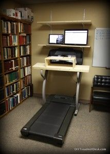 My treadmill desk setup.  I love walking and working!  Makes the day fly by and keeps me energetic and productive.