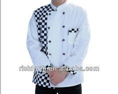 #shepherd check chef uniform, #japanese style chef uniform, #chef jacket