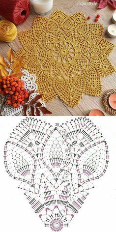 Crochet Bedspread Pattern, Free Crochet Doily Patterns, Crochet Doily Diagram, Crochet Snowflake Pattern, Crochet Designs, Filet Crochet, Thread Crochet, Crochet Crafts, Crochet Projects