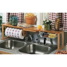 I LOVE this Over the Sink Kitchen Center for the RV!  I have the shelf itself sitting in my closet right now!!