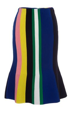 Blue Ottoman Stripe Skirt - J.W. Anderson Resort 2016 - Preorder now on Moda Operandi